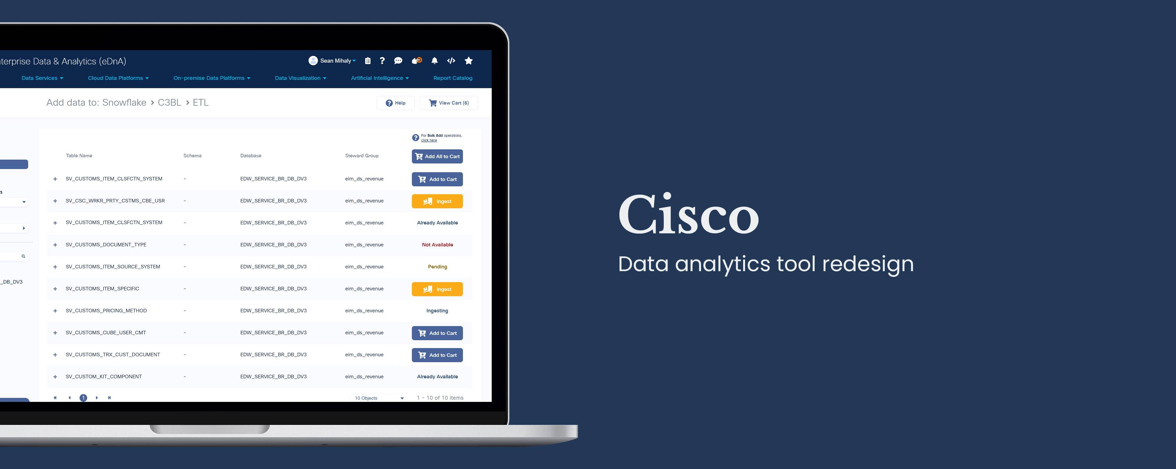 Cisco: Data analytics tool redesign