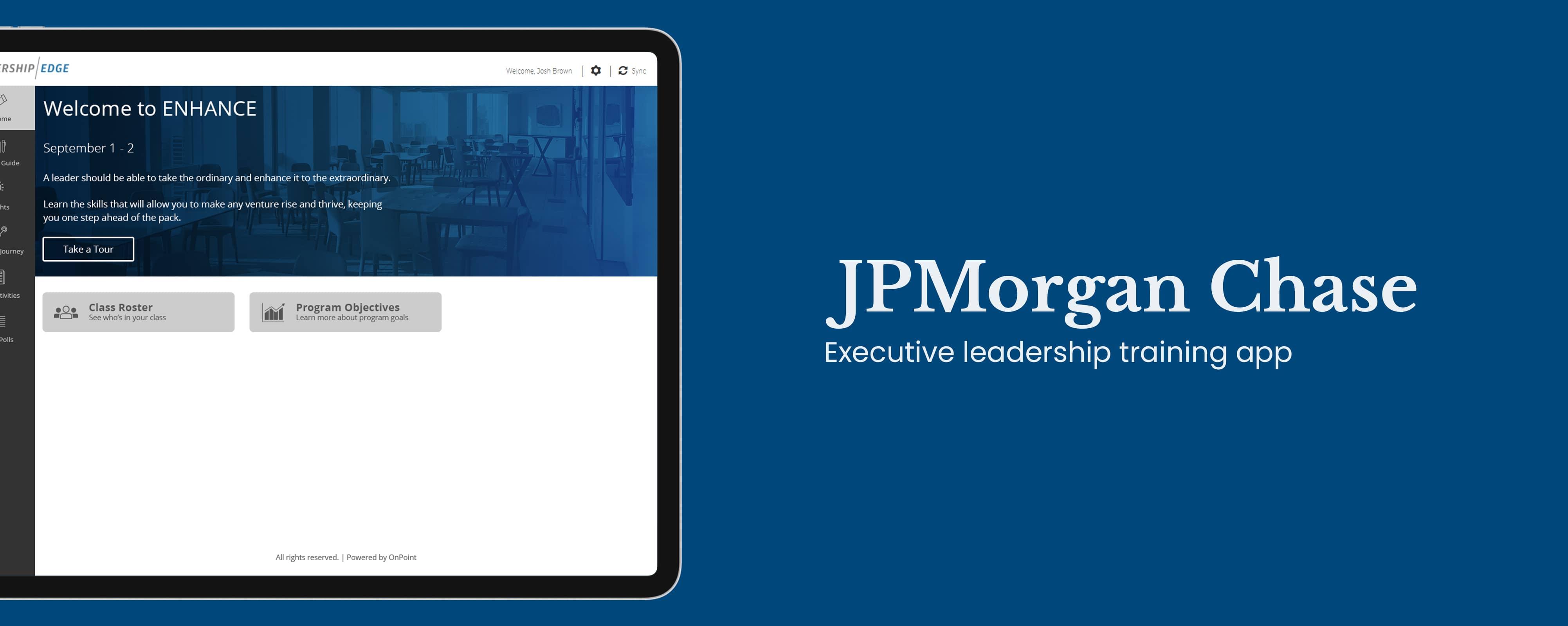JPMorgan Chase: Executive leadership training app